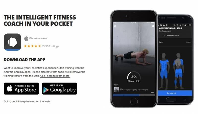 Мобильное приложение Фрилетикс Бодивейт
