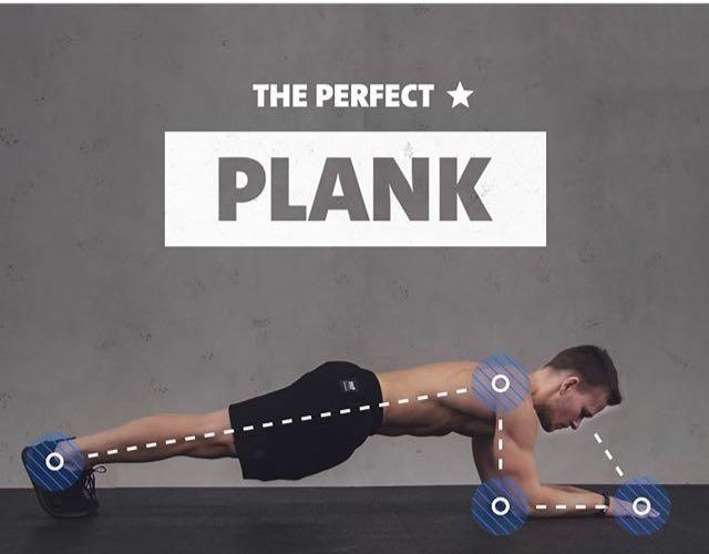 идеальное выполнение упражнения планка